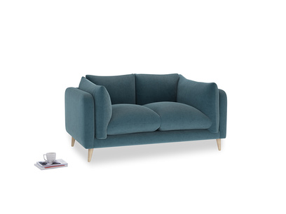 Small Slow-Mo Sofa in Lovely Blue Clever Cord