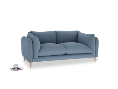 Medium Slow-Mo Sofa in Nordic blue brushed cotton
