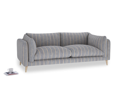 Large Slow-Mo Sofa in Brittany Blue french stripe