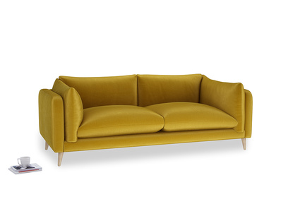 Large Slow-Mo Sofa in Burnt yellow vintage velvet