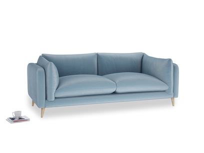 Large Slow-Mo Sofa in Chalky blue vintage velvet