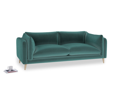 Large Slow-Mo Sofa in Real Teal clever velvet