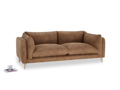 Large Slow-Mo Sofa in Walnut beaten leather