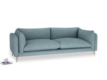Extra large Slow-Mo Sofa in Soft Blue Clever Laundered Linen