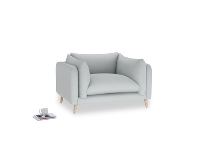 Slow-Mo Love Seat in Gull Grey Bamboo Softie