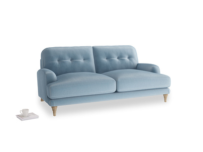 Medium Sugar Bum Sofa in Chalky blue vintage velvet