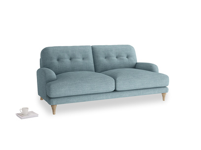 Medium Sugar Bum Sofa in Soft Blue Clever Laundered Linen