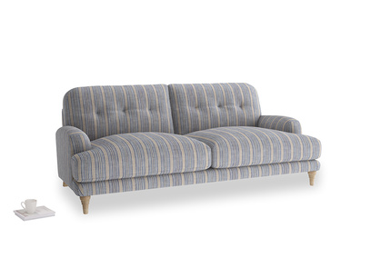 Large Sugar Bum Sofa in Brittany Blue french stripe
