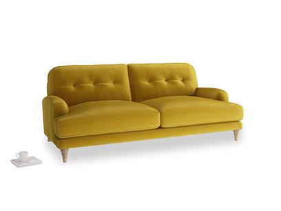 Large Sugar Bum Sofa in Burnt yellow vintage velvet