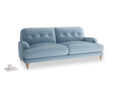 Large Sugar Bum Sofa in Chalky blue vintage velvet