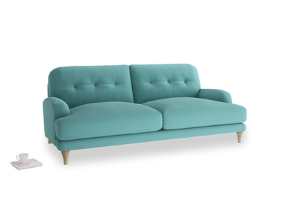 Large Sugar Bum Sofa in Peacock brushed cotton