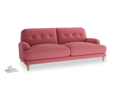 Large Sugar Bum Sofa in Raspberry brushed cotton