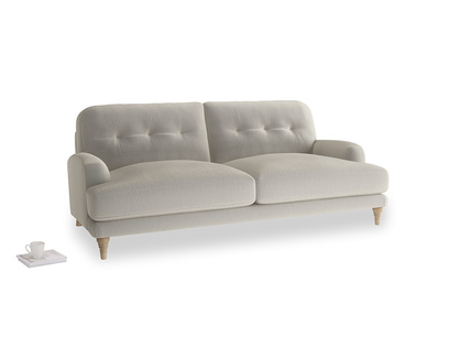 Large Sugar Bum Sofa in Smoky Grey clever velvet