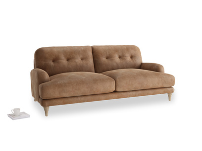 Large Sugar Bum Sofa in Walnut beaten leather