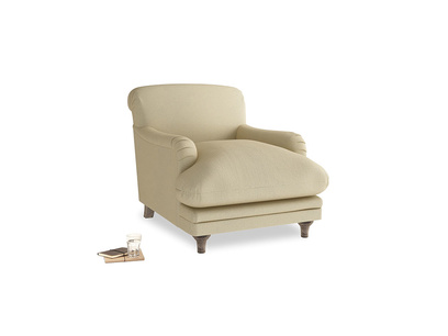 Pudding Armchair in Parchment Clever Linen