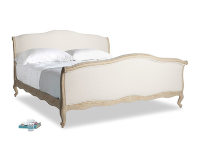 Superking Antoinette Bed in Natural cotton linen mix