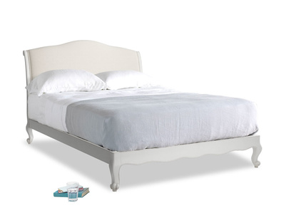 Kingsize Coco Bed in Scuffed Grey in Natural cotton linen mix
