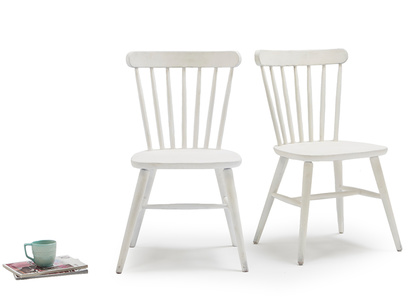Pair of Natterbox In Calm White kitchen chairs