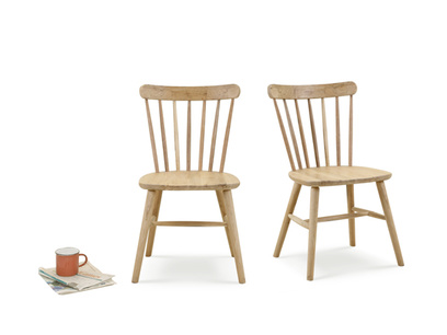 Pair of Natterbox In Oak kitchen chairs