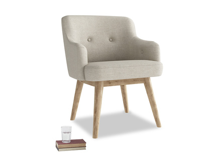 Smudge Armchair in Thatch house fabric