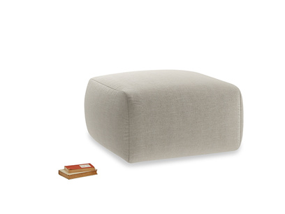 Layabout Footstool Squidger in Thatch house fabric