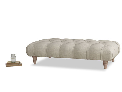 Comfty Footstool in Thatch house fabric