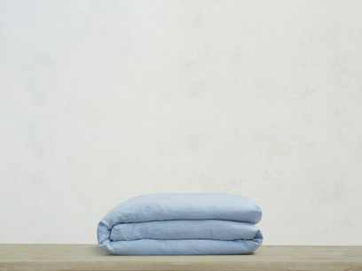 Kingsize Lazy Linen Duvet cover in Cornflower Blue