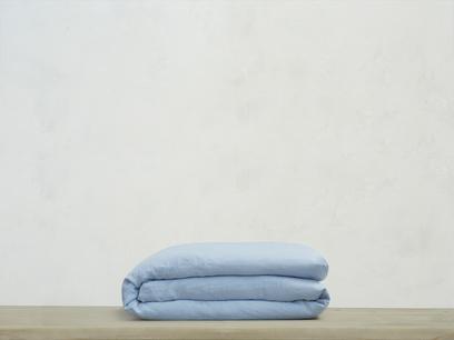 Double Lazy Linen Duvet cover in Cornflower Blue