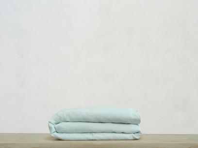 Superking Lazy Linen duvet covers in Duck Egg