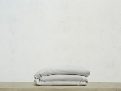 Double Lazy Linen duvet covers in Light Grey