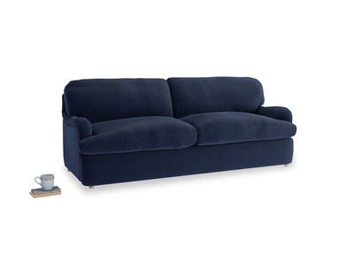 Large Jonesy Sofa Bed in Indian Blue Clever Cord