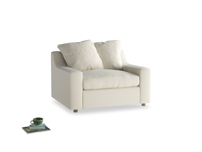 Cloud love seat sofa bed in Alabaster Bamboo Softie