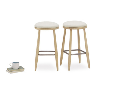 Booty small round stool pair and prop