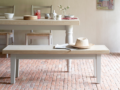Plonk grey dining room bench