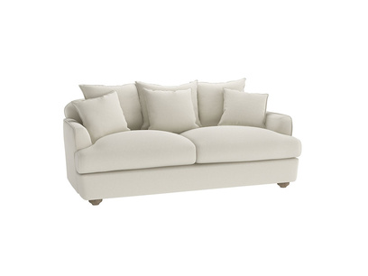 Medium Smooch Sofa in Oat brushed cotton