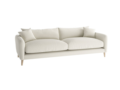Large Squishmeister Sofa in Oat brushed cotton