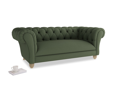 Medium Young Bean Sofa in Forest Green Clever Linen