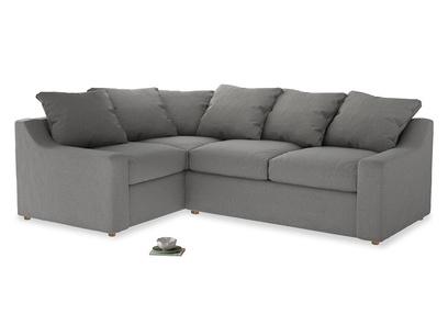 Large Left Hand Cloud Corner Sofa in Cloudburst Bamboo Softie
