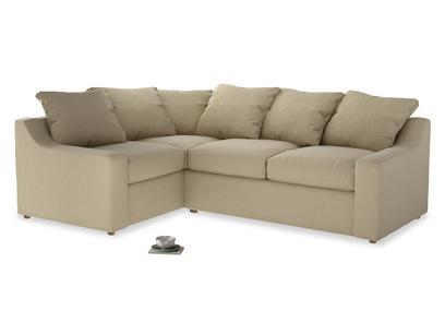 Large Left Hand Cloud Corner Sofa in Hopsack Bamboo Softie