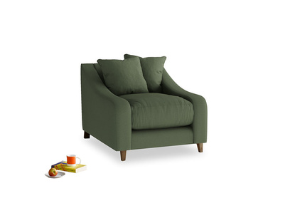 Oscar Armchair in Forest Green Clever Linen