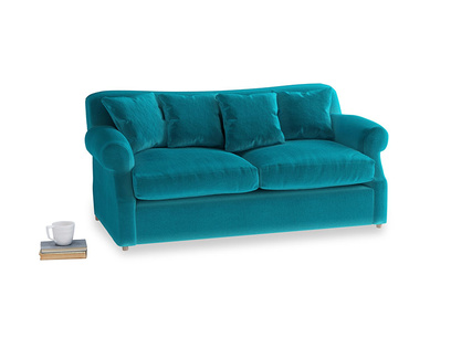 Medium Crumpet Sofa Bed in Pacific Clever Velvet