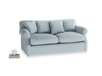 Medium Crumpet Sofa Bed in Scandi blue clever cotton