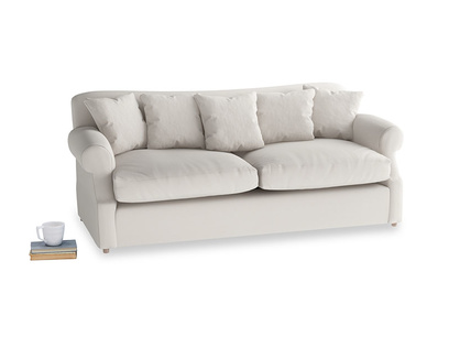 Large Crumpet Sofa Bed in Chalk clever cotton