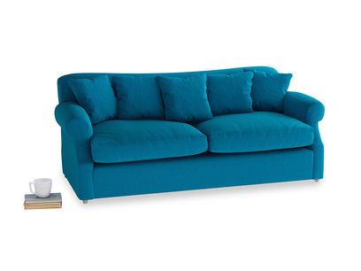 Large Crumpet Sofa Bed in Bermuda Brushed Cotton