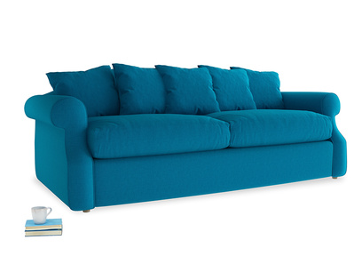 Large Sloucher Sofa Bed in Bermuda Brushed Cotton