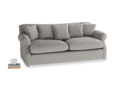 Large Crumpet Sofa Bed in Wolf brushed cotton