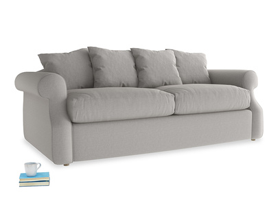 Medium Sloucher Sofa Bed in Wolf brushed cotton
