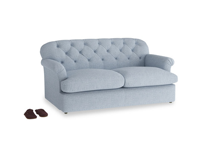 Medium Truffle Sofa Bed in Frost clever woolly fabric