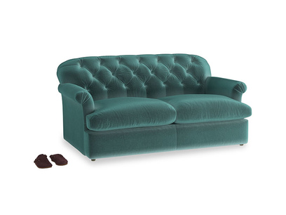 Medium Truffle Sofa Bed in Real Teal clever velvet