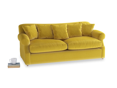 Large Crumpet Sofa Bed in Bumblebee clever velvet